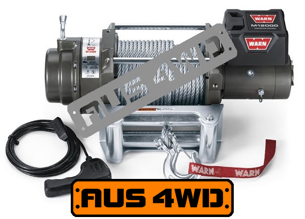 Warn M12000 24v Large Frame Recovery Winch 38m Wire Rope