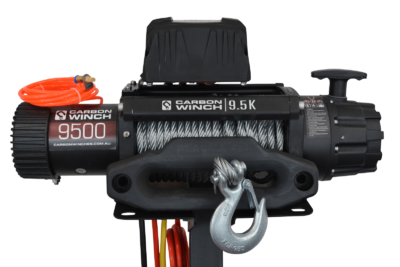 Carbon 12K 12000lb Electric winch with steel cable