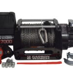 Carbon Winch 24V 17000lb Heavy Duty Series winch with synthetic rope