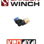 Carbon Winch Motor Breather Kit 90 Deg Elbow 1/4 NPT airline fitting