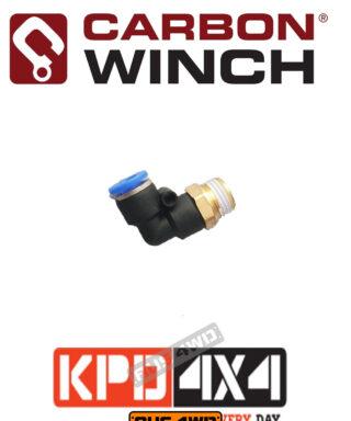 Carbon Winch Motor Breather Kit 90 Deg Elbow 1/4 NPT airline fitting