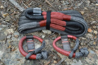 Kinetic Recovery Rope and Soft Shackle Package Deal - Carbon Offroad Premium Tow Recovery Bundle