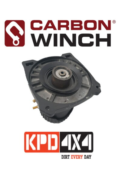 Carbon Winch lowmount winch Motor side drum endplate with brake unit housing -no internal brake components