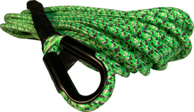 Carbon Offroad dual layer braided dyneema winch rope - green 10mm x 24m