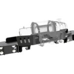 Ford Ranger PX PX2 Winch Cradle in bumper mount