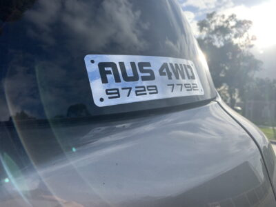 AUS4WD with Phone Number Sticker